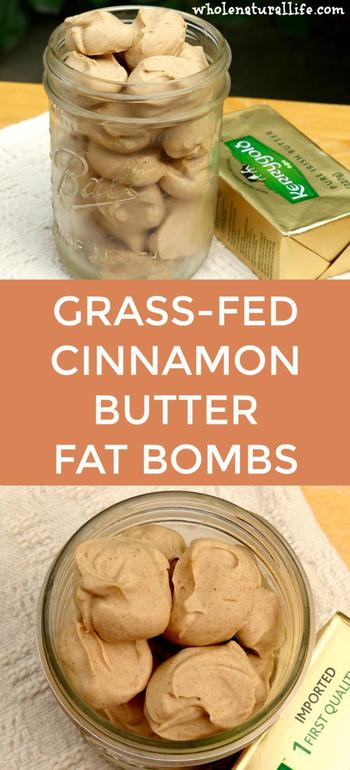 Grass-Fed Cinnamon Butter Fat Bombs