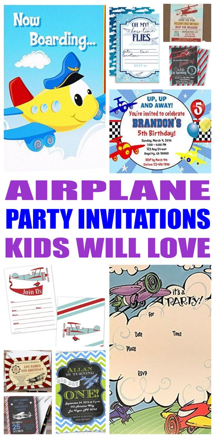 Airplane Party Invitations