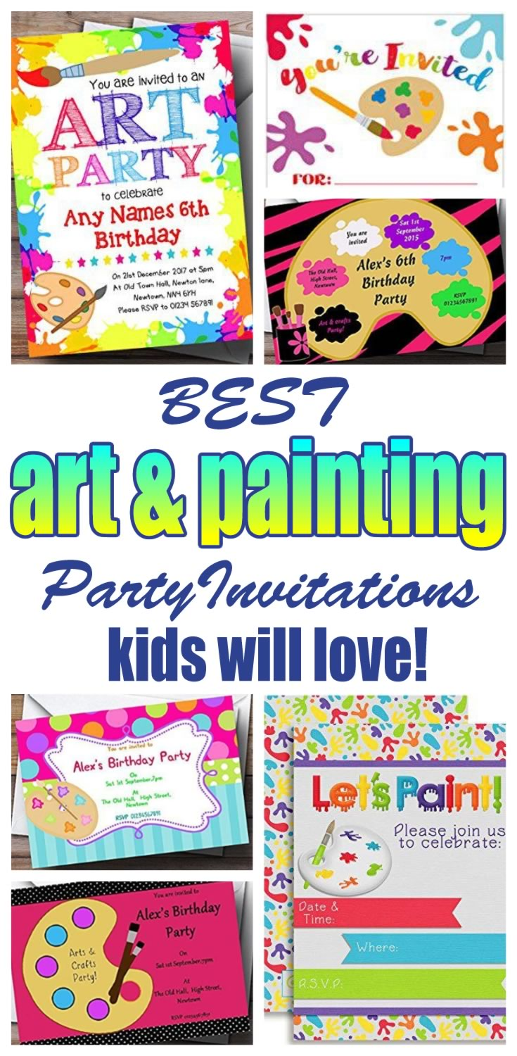 Art And Painting Party Invitation Ideas