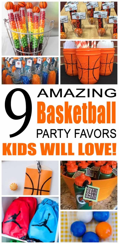 Basketball Party Favor Ideas