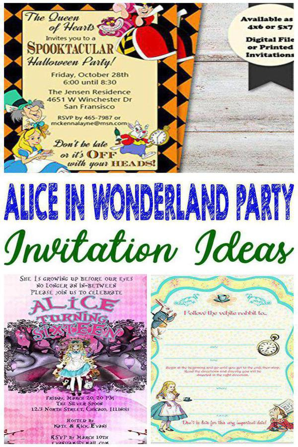 Best Alice In Wonderland Party Invitations