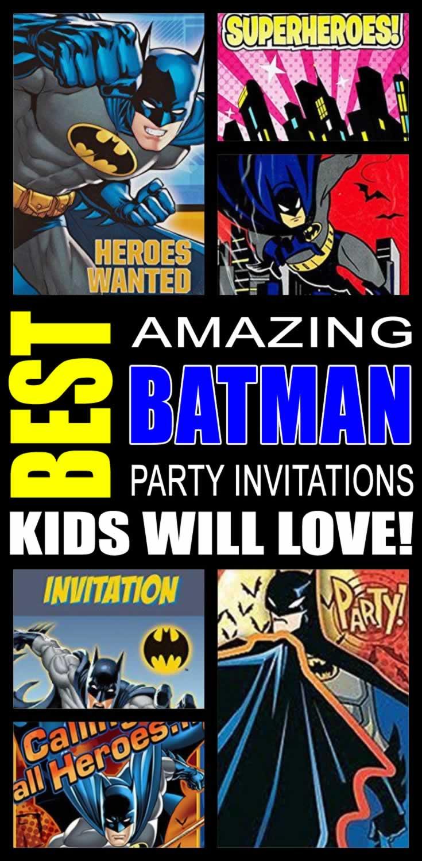 Batman Party Invitations Kids Will Love