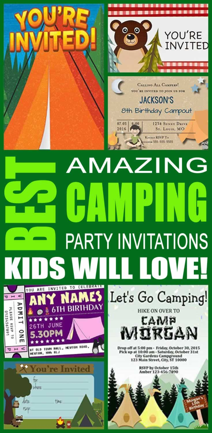 Best Camping Party Invitations Kids Will Love