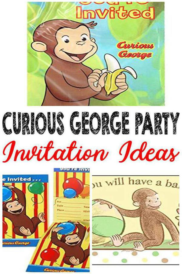 Best Curious George Party Invitations