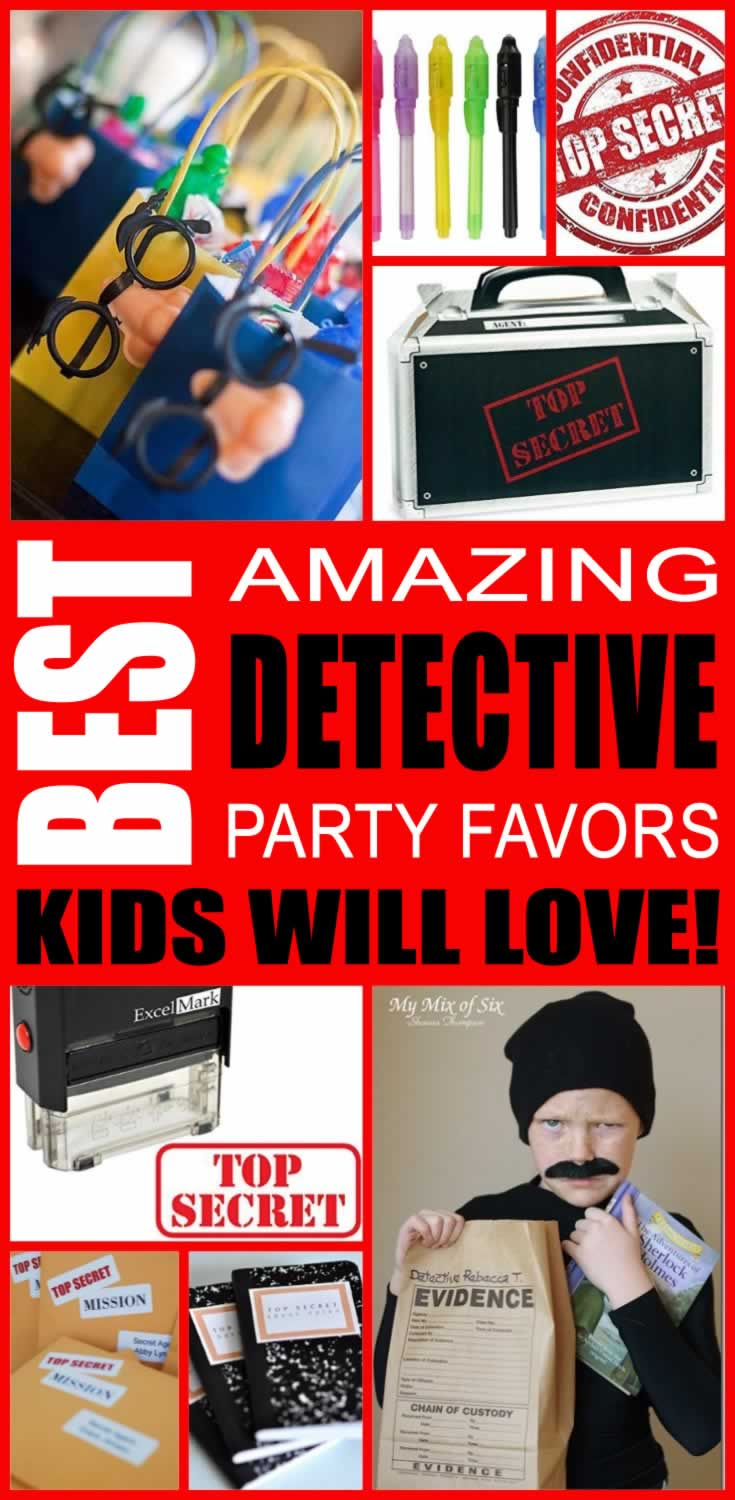 best detective party favors kids will love