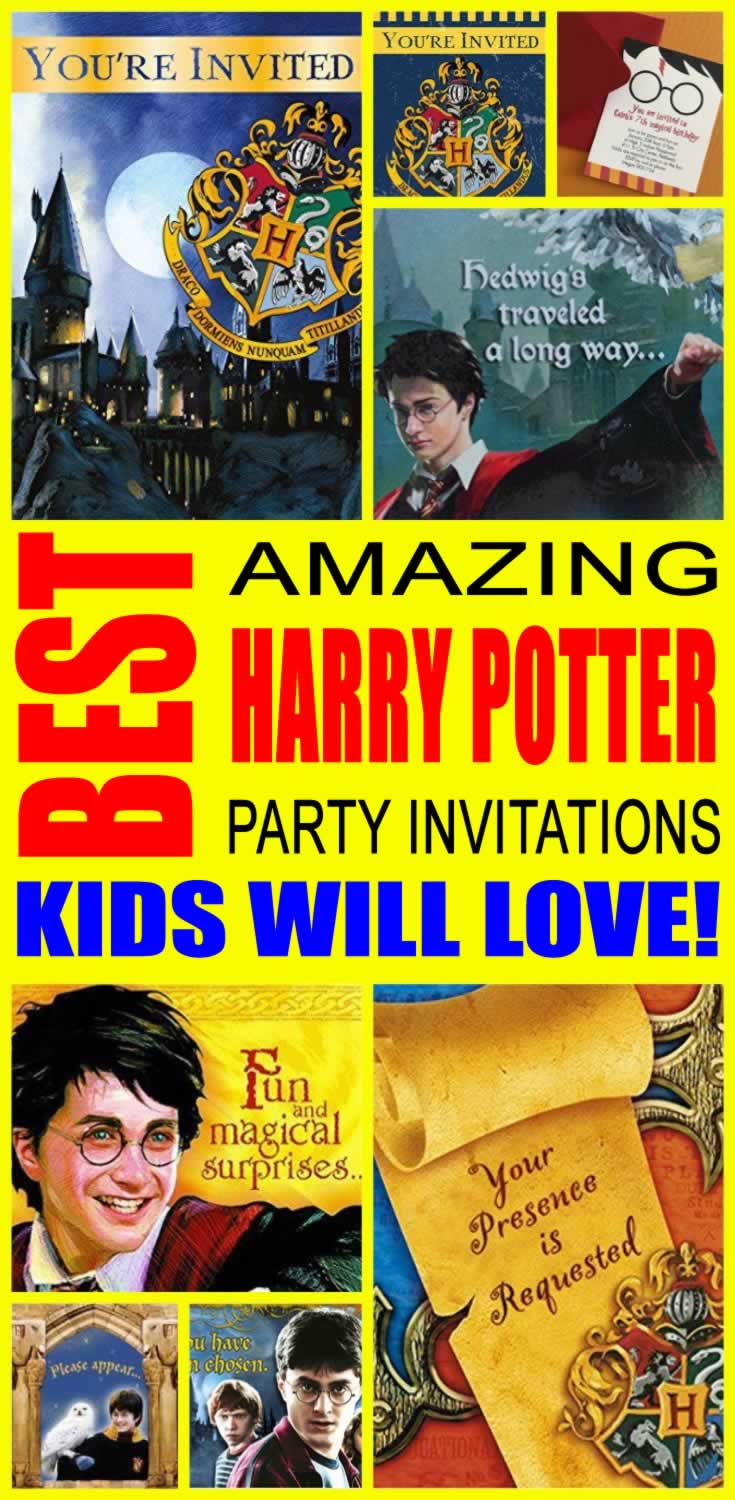 best harry potter party invitations kids will love - Harry Potter Party Invitations