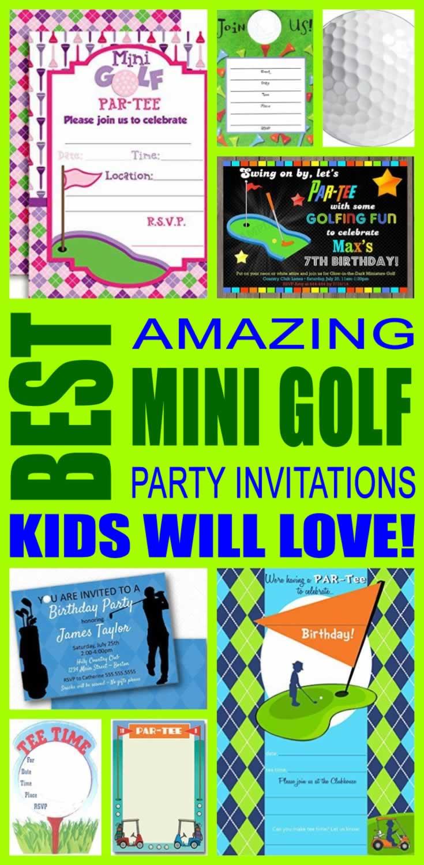 Best mini golf party invitations kids will love filmwisefo