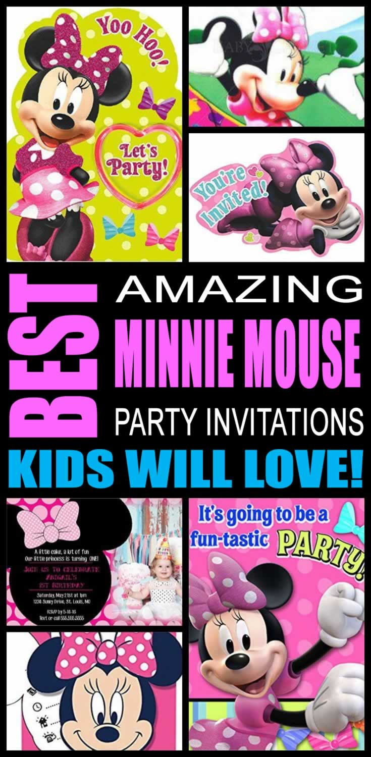 Best Minnie Mouse Party Invitations Kids Will Love