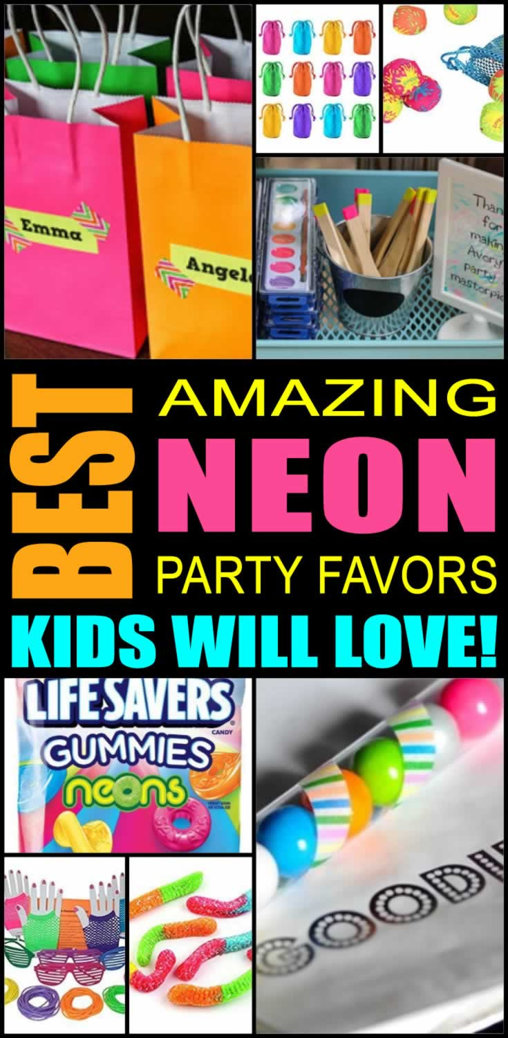 best neon party favors kids will love