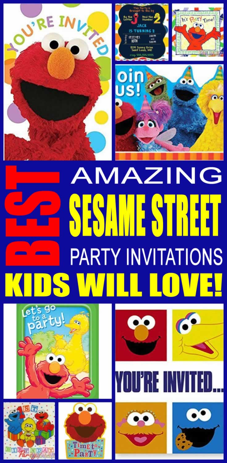 Sesame Street 2nd Birthday Invitations – Sesame Street Party Invitations