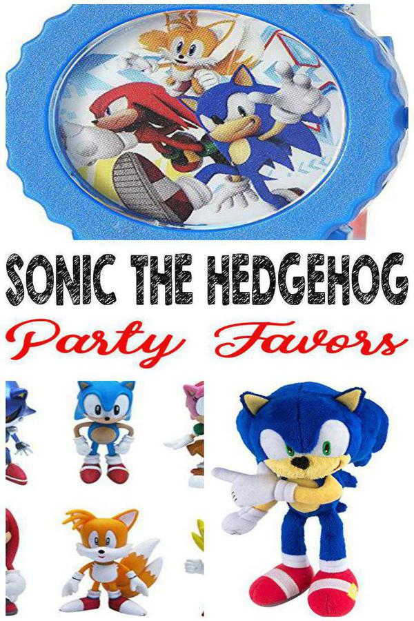 Best Sonic The Hedgehog Party Favor Ideas