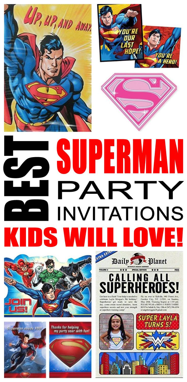 Superman Party Invitations Kids Will Love