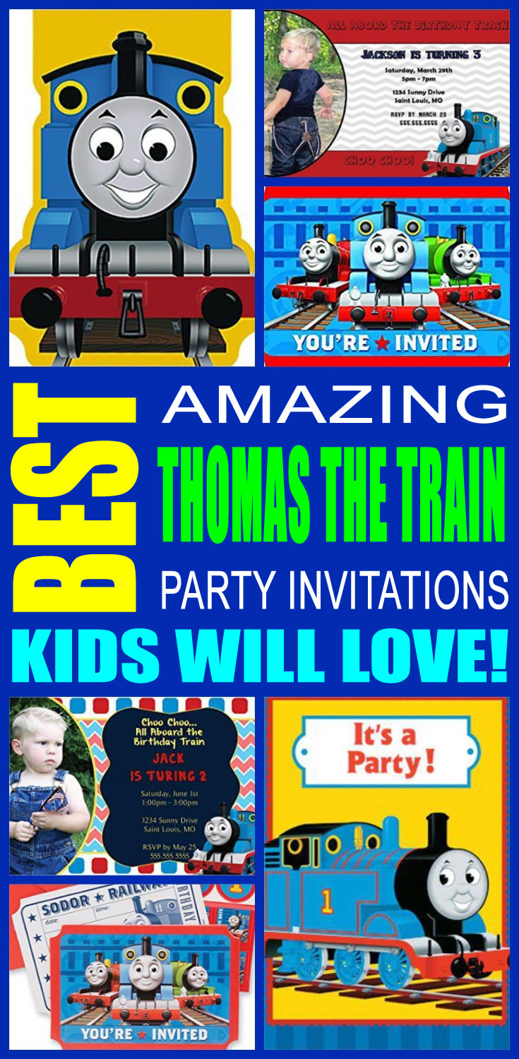 Thomas The Train Party Invitations afro american greeting cards – Thomas the Train Birthday Invites