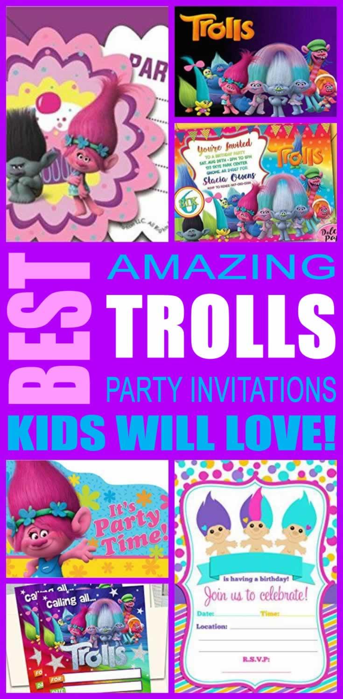 best trolls party invitations kids will love