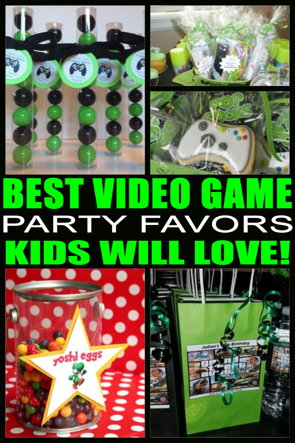 best video game birthday party favors