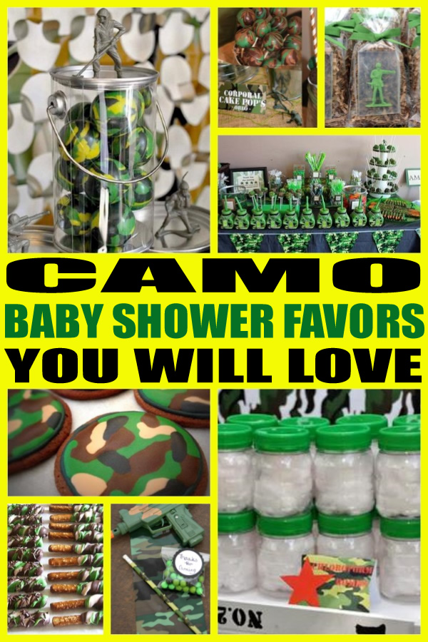 Camo Baby Shower Favors