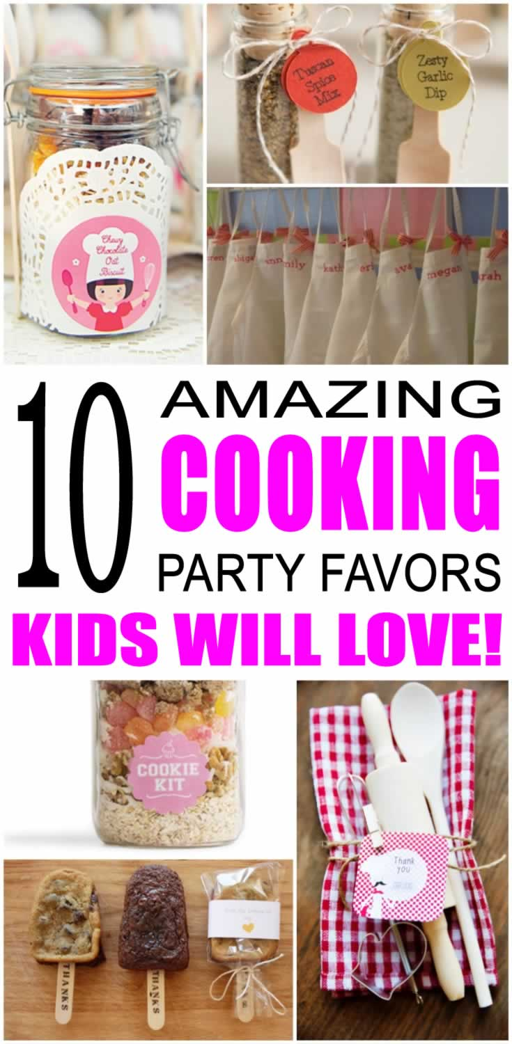 cooking party favor ideas