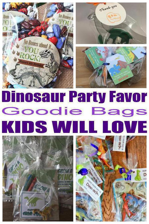 Jurassic World Theme Party Favors Brown Paper T Bags Dinosaur Design Of Gift Bag Ideas