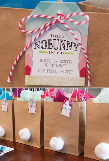 Easter party favors bunny goodie bag negle Gallery