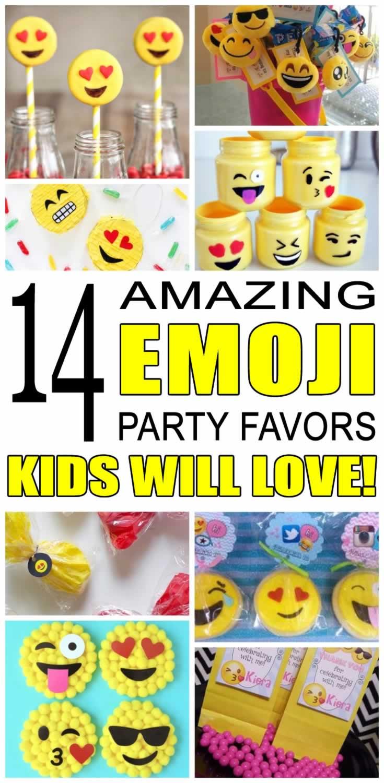 Emoji Party Favor Ideas
