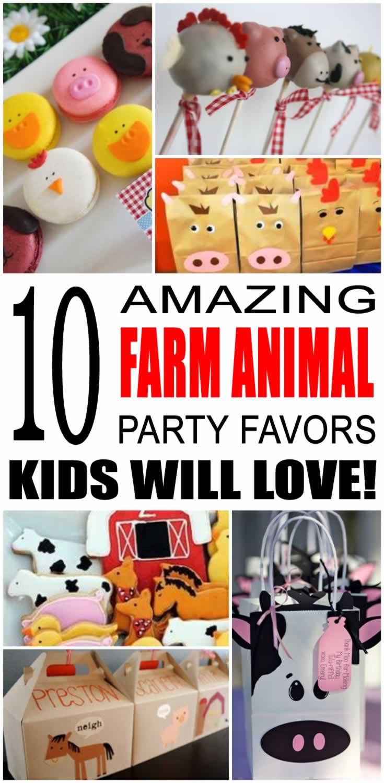 Farm Animal Party Favor Ideas