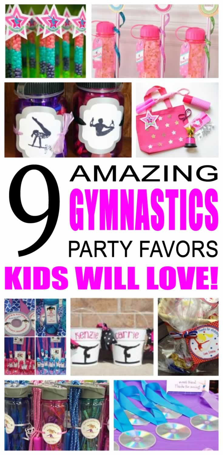 gymnastics party favor ideas