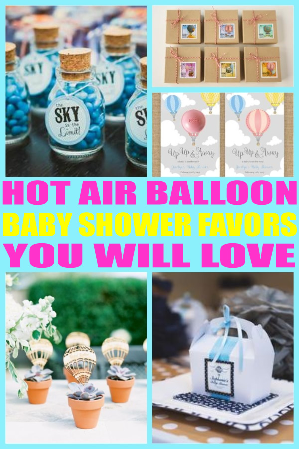 Hot Air Balloon Baby Shower Favors