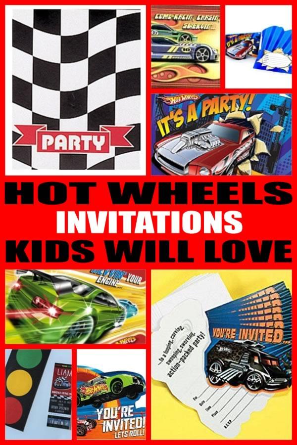 Hot Wheels Party Invitations