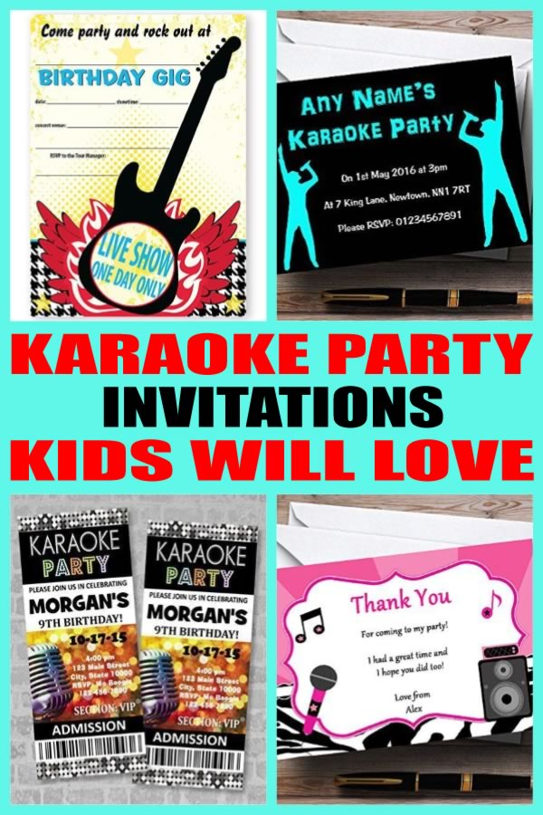 Karaoke Party Invitations