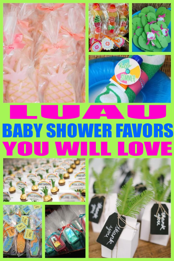 Luau Baby Shower Favors