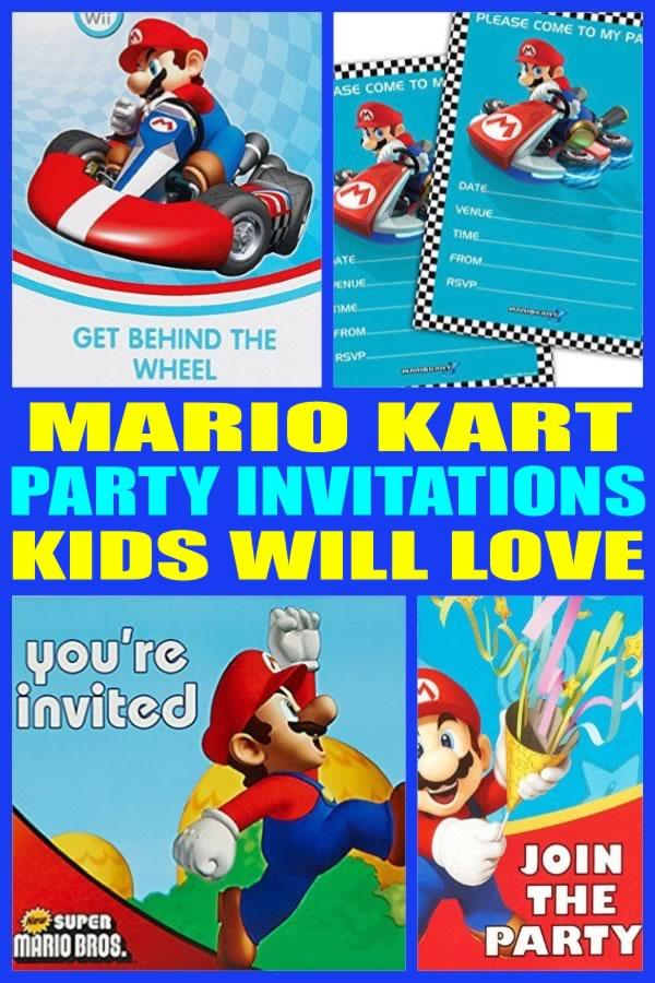 Mario Kart Party Invitations