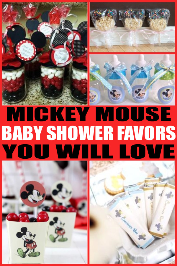Mickey Mouse Baby Shower Favors