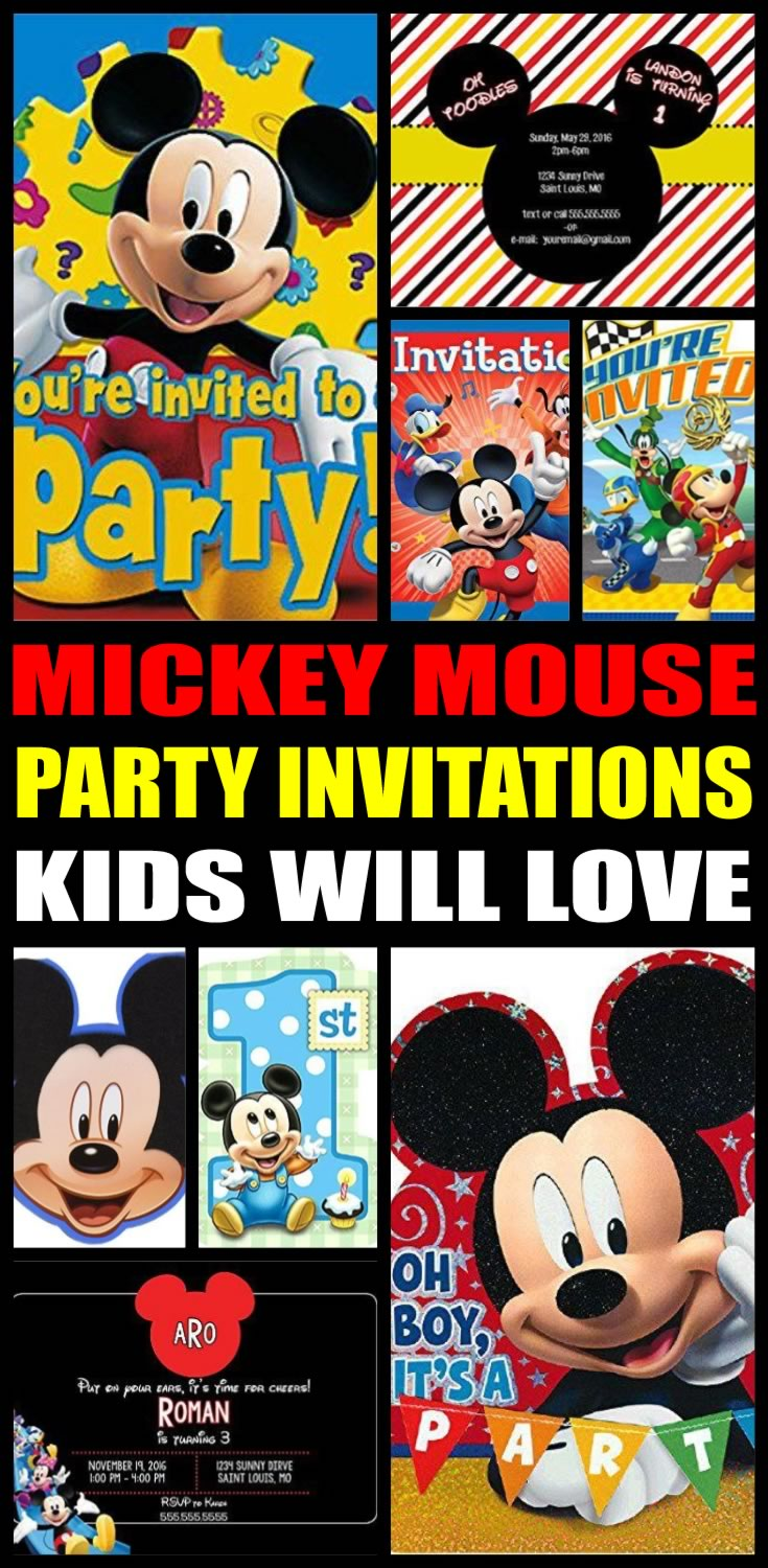 Mouse Party Invitations