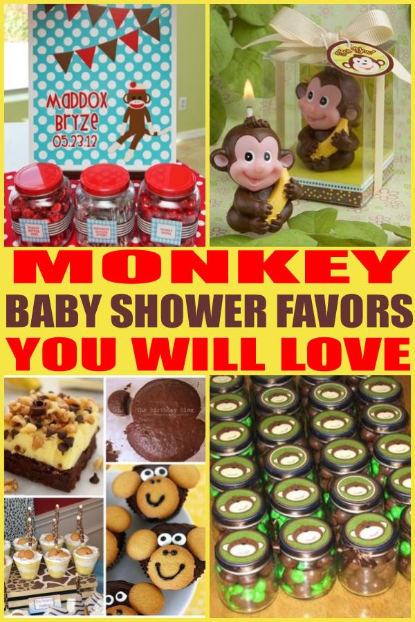 Monkey Baby Shower Favors