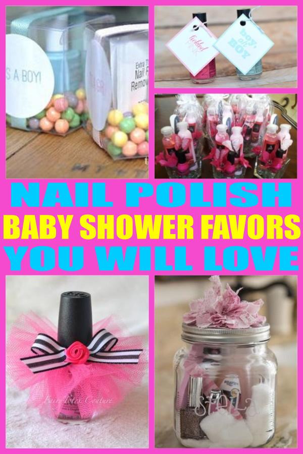 Nail Polish Baby Shower Favors
