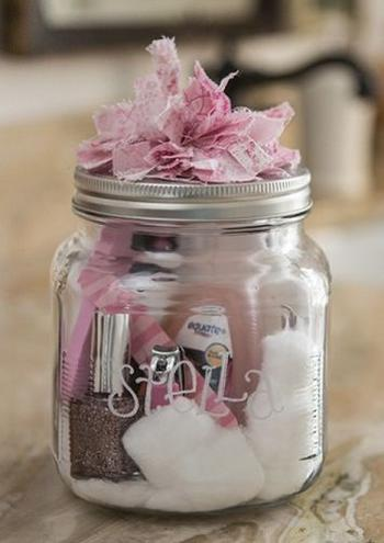 Mason Jar Nail Polish Baby Shower Favor