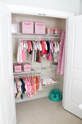 Nursery Closet Organization Idea