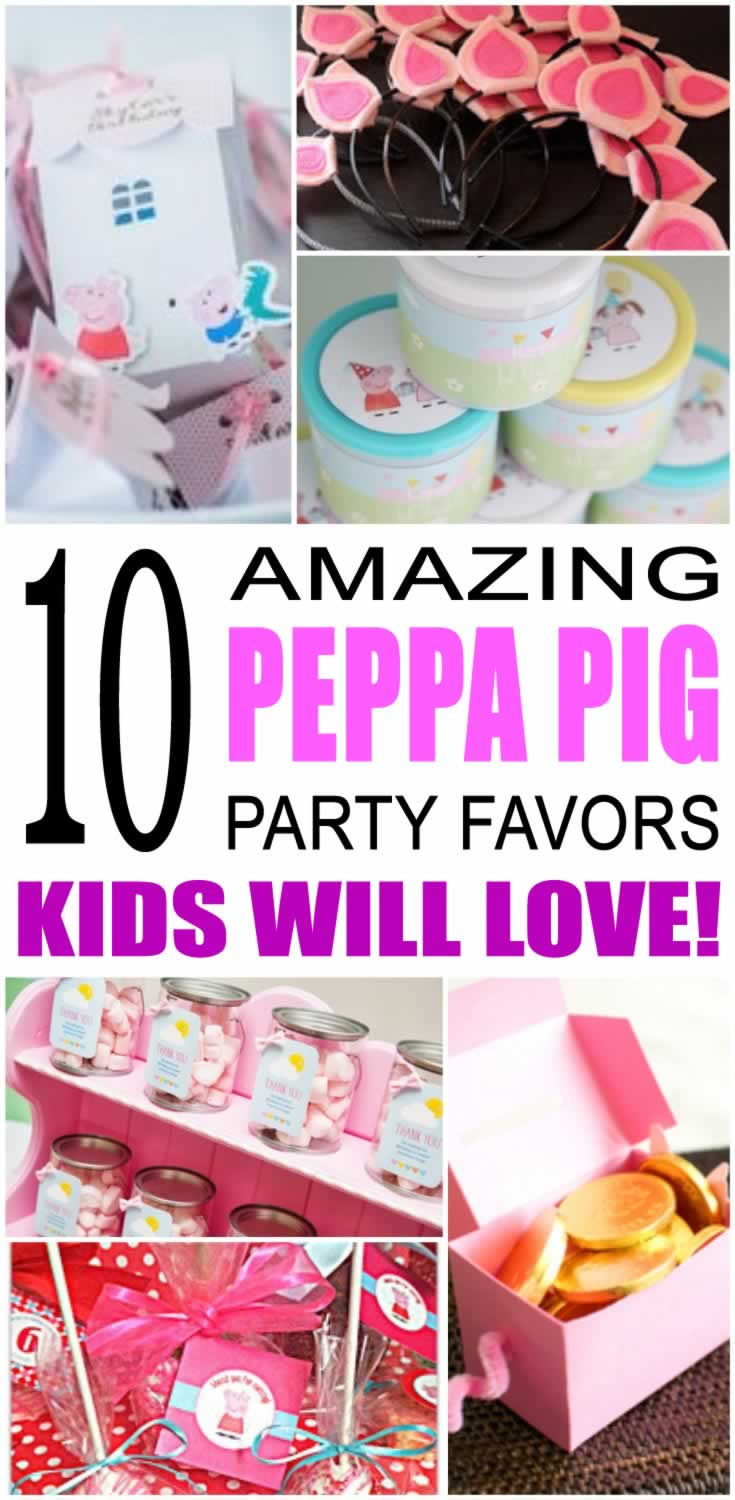 Peppa Pig Party Favor Ideas