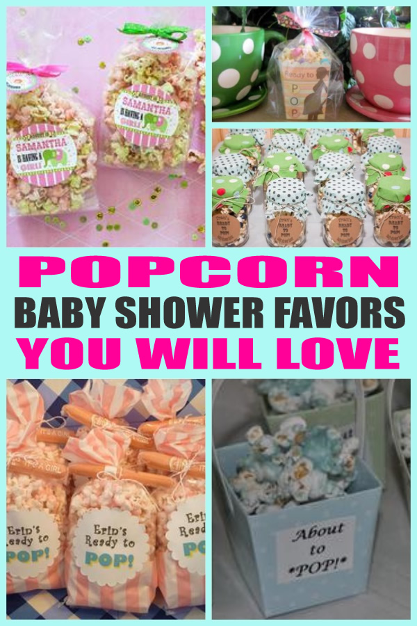 Popcorn Baby Shower Favors