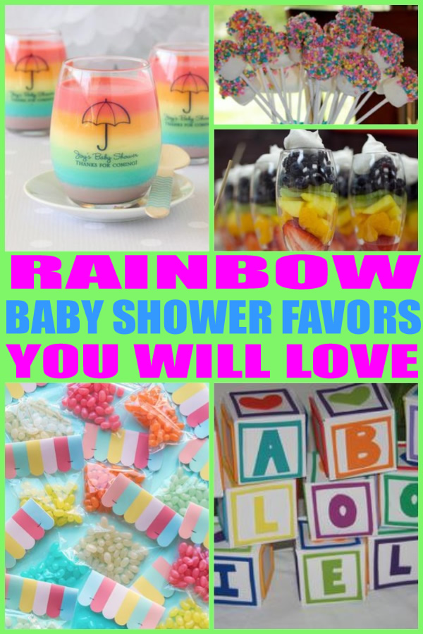 Rainbow Baby Shower Favors