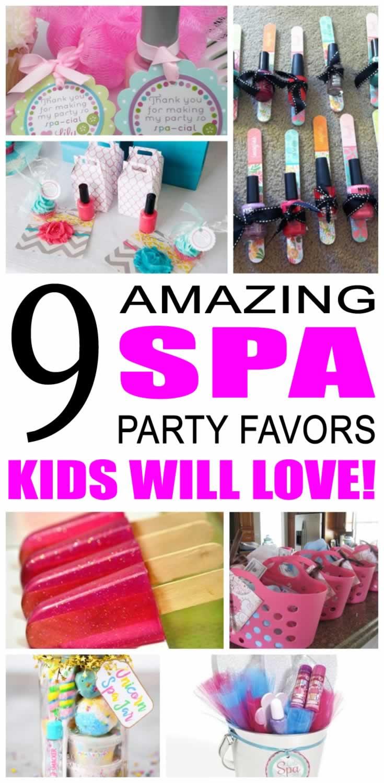 Spa Party Favor Ideas