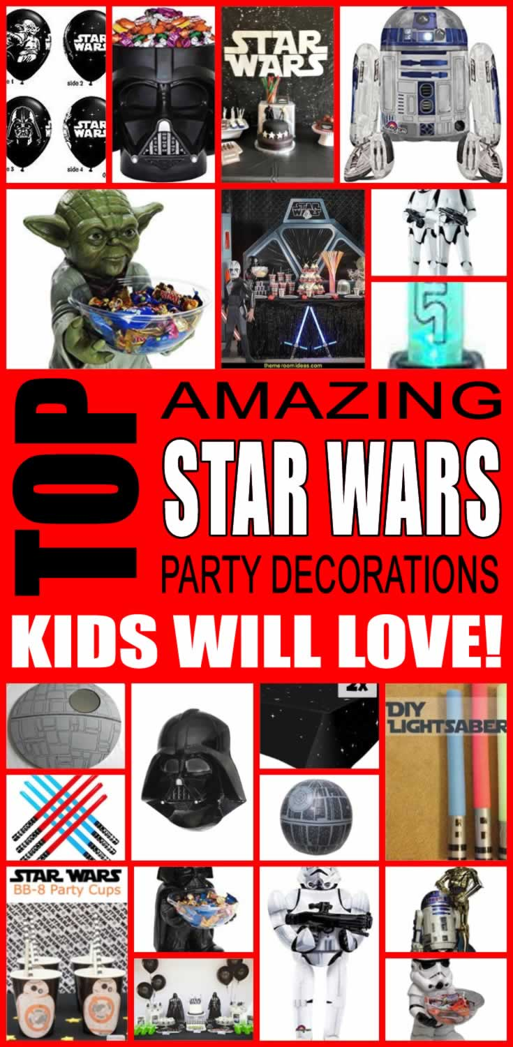 Star wars birthday party decorations for Star wars dekoration