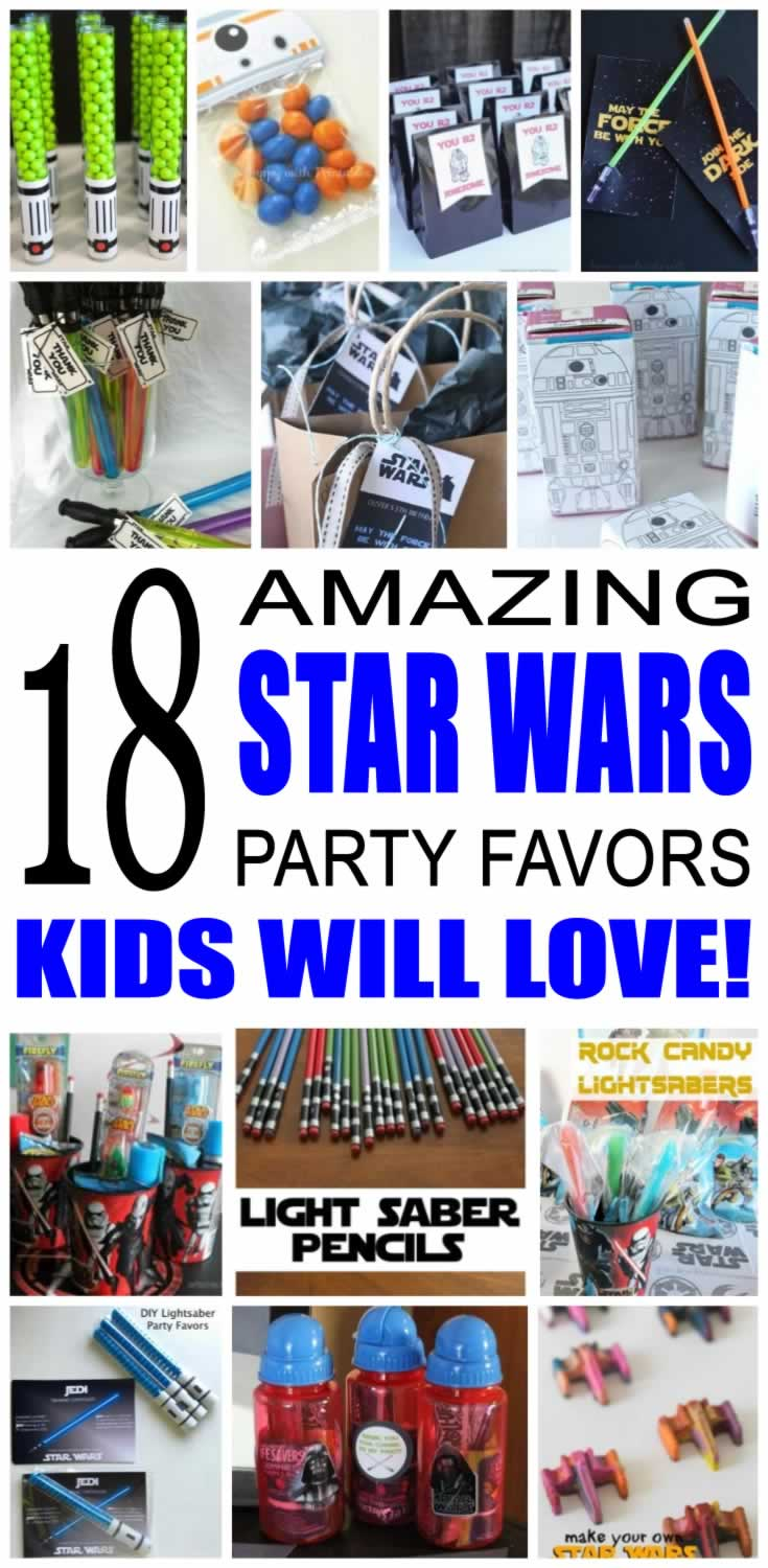 star wars party favor ideas