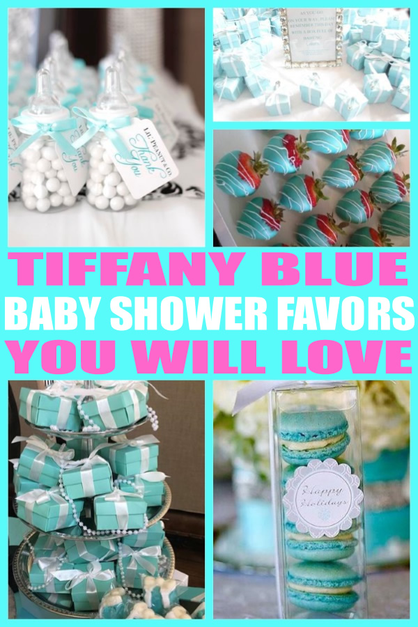 Tiffany Blue Baby Shower Favors