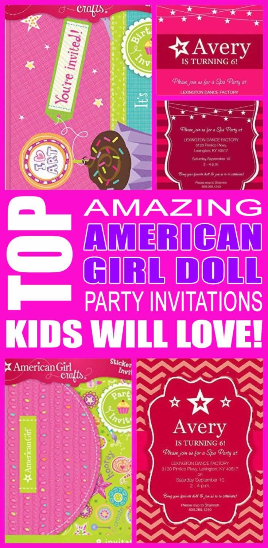 Top American Girl Doll Invitations Kids Will Love