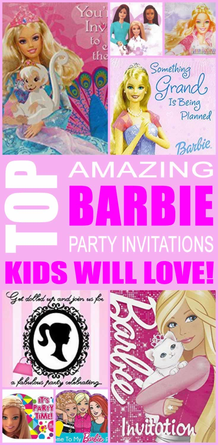Top Barbie Party Invitations Kids Will Love