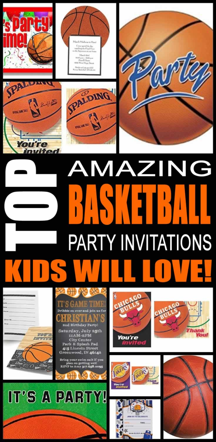 Basketball Party Invitations Kids Will Love