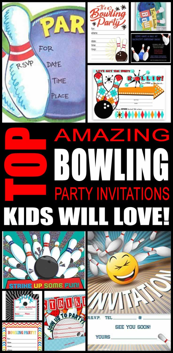 Bowling Party Invitations Kids Will Love