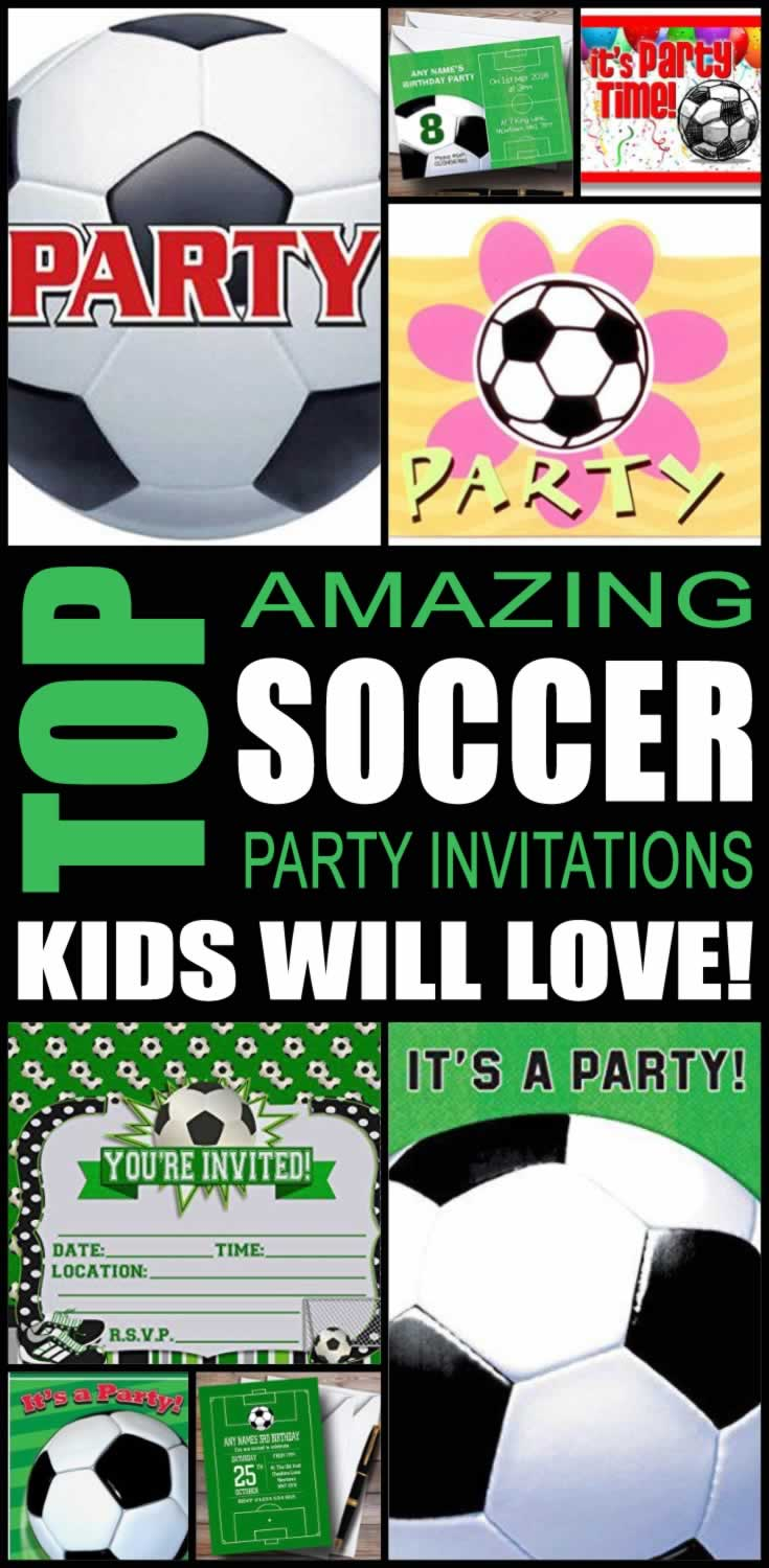 top soccer party invitations kids will love - Soccer Party Invitations
