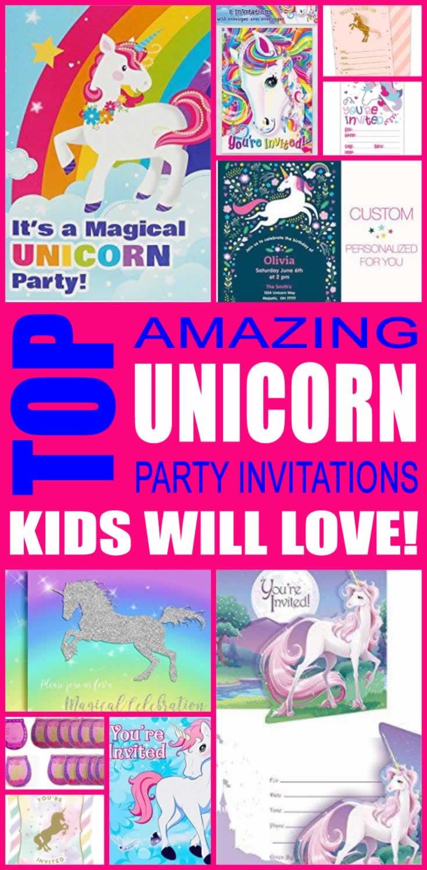 Unicorn Party Invitations Kids Will Love